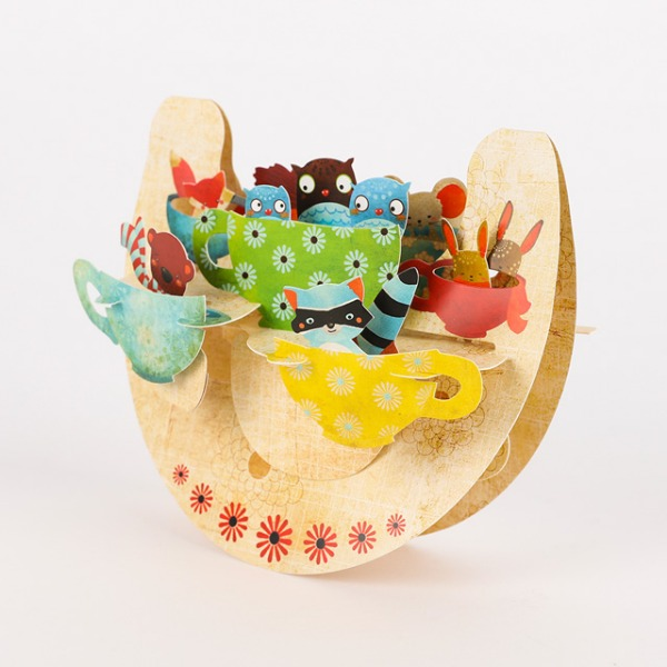 [Santoro]산토로 Teacups In The Forest 3D 입체카드 / Santoro-PR025